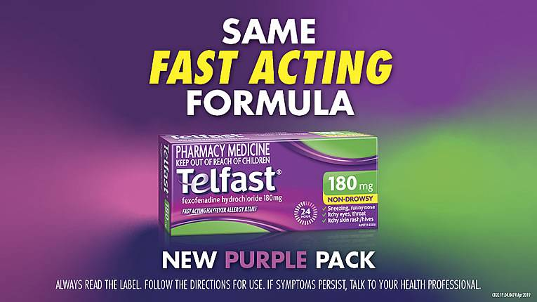 Why is Telfast now in a purple pack?